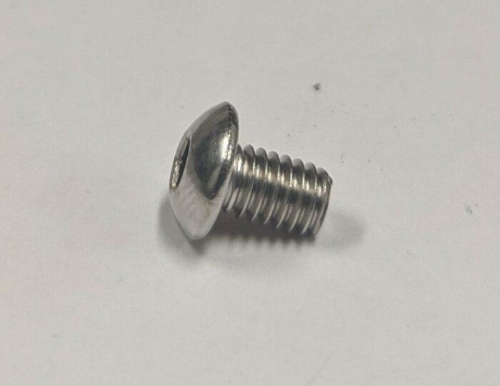 M4x6mm 304 SS Button Head Cap Screw thread (BHCS)