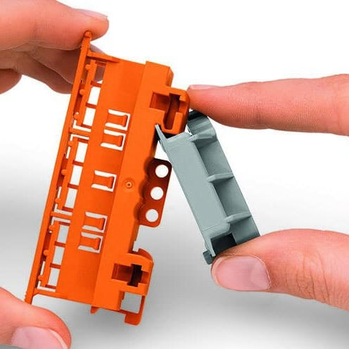 Wago 222-510 Angled DIN Rail Adapter Assembly to Carrier