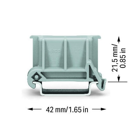 Wago 222-510 Angled DIN Rail Adapter Mounting Carier Dimensions