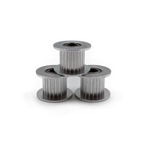 GT2-20t-10mm-width-idler-5mm-bore-silver-triple